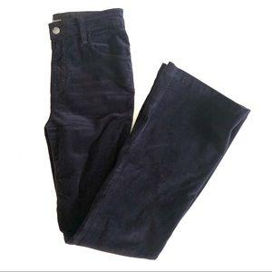 J Brand Maria Velvet High Rise Flare Jeans